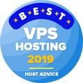 Awarded to companies in the top 10 for the best vps hosting category.