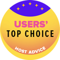 Awarded to the top 10 web hosting companies with the highest user rating.